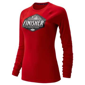 New Balance NYC Marathon Transform Long Sleeve, Team Red