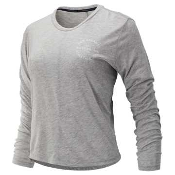 New Balance Relentless Long Sleeve, Athletic Grey