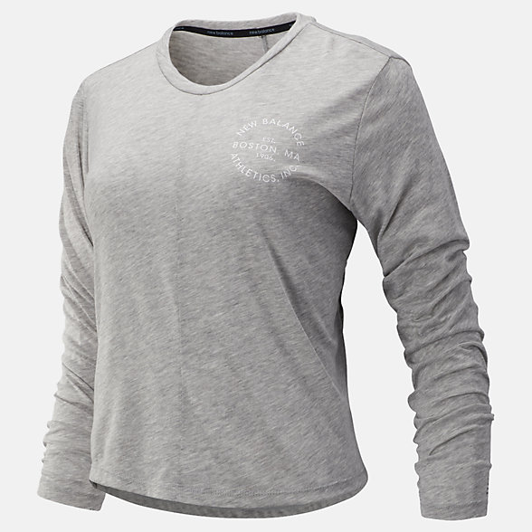 New Balance Relentless Long Sleeve, WT93141AG