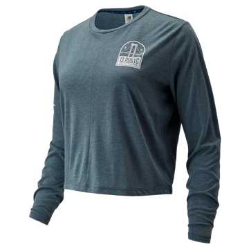 New Balance NYC Half Relentless Long Sleeve, Orion Blue