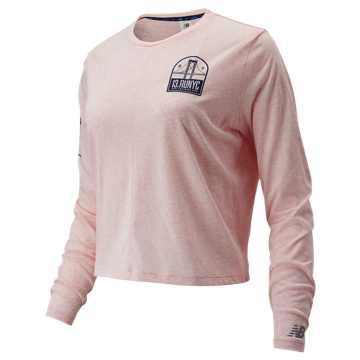 New Balance NYC Half Relentless Long Sleeve, Pink Mist Heather