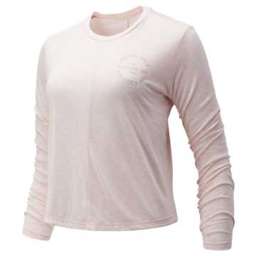 New Balance Relentless Long Sleeve, Pink Mist Heather