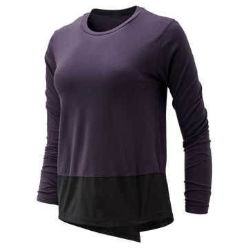 New Balance Determination Luxe Long Sleeve, Iodine Violet with Black