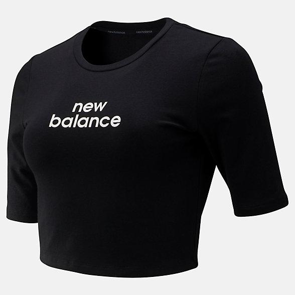 New Balance Relentless Crop Tee, WT93151BK