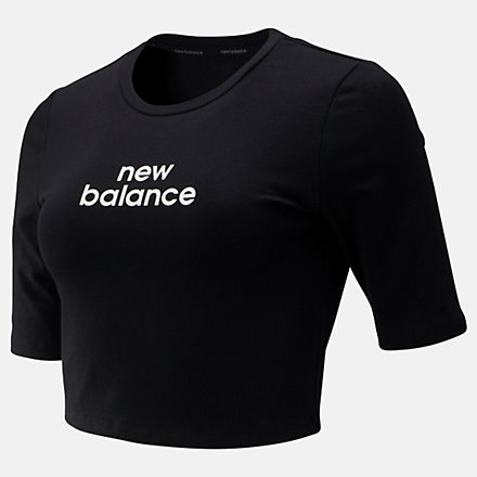 New Balance Relentless Crop Tee, WT93151BK image number null