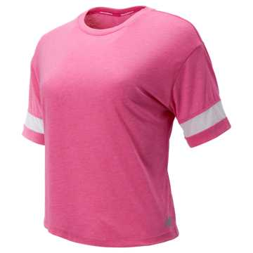 New Balance Relentless Boxy Tee, Carnival Pink