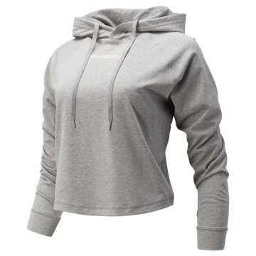 New Balance Relentless Crop Hoodie, Athletic Grey