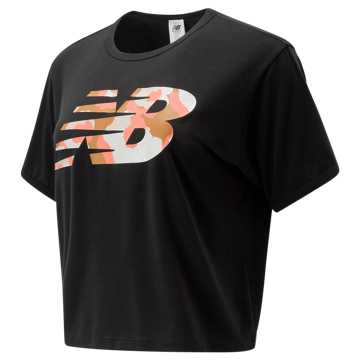 New Balance Glow Cheetah Go Tee, Black