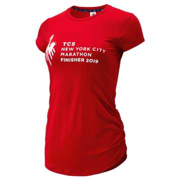 New Balance NYC Marathon Transform Perfect Tee, Team Red