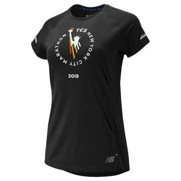 New Balance NYC Marathon NB ICE 2.0 Short Sleeve, Black
