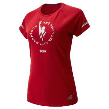 New Balance NYC Marathon NB ICE 2.0 Short Sleeve, Team Red