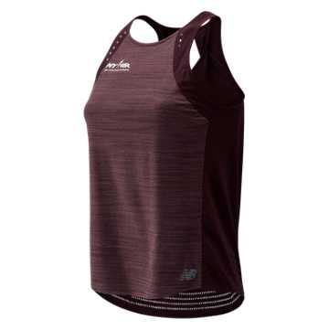 New Balance RFL Q Speed Run Crew Tank, Henna