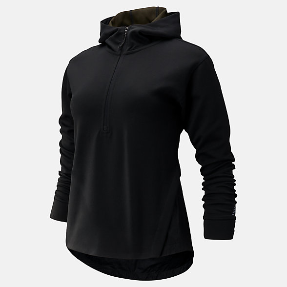 New Balance Q Speed Run Crew Sweatshirt, WT93213BK