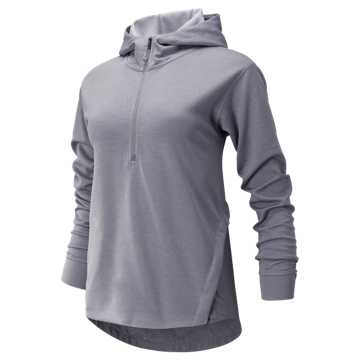 New Balance Q Speed Run Crew Sweatshirt, Smokey Quartz