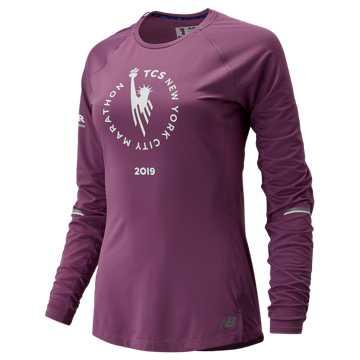 New Balance NYC Marathon NB ICE Long Sleeve, Kite Purple