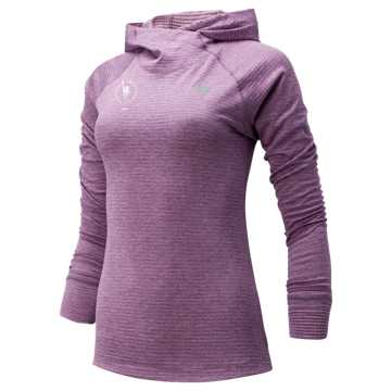 New Balance NYC Marathon NB HEAT Grid Hoodie, Kite Purple