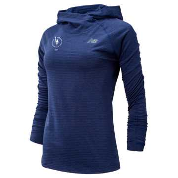New Balance NYC Marathon NB HEAT Grid Hoodie, Techtonic Blue Heather