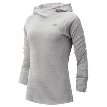 New Balance NB Heatgrid Hoodie, Sea Salt Heather