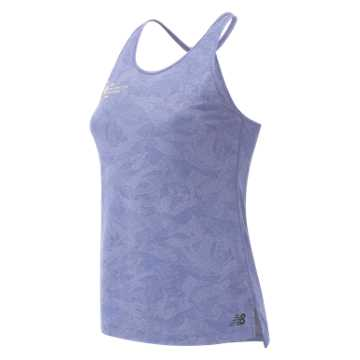 New Balance NYC Marathon Q Speed Breathe Tank, Clear Amethyst