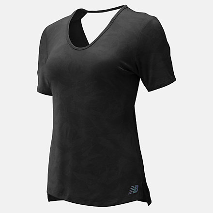 New Balance Q Speed Breathe Short Sleeve, WT93254BKH image number null