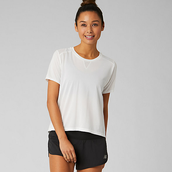 New Balance Impact Run Mesh Short Sleeve, WT93270WT