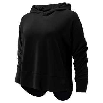 New Balance Evolve Twist Back Hoodie, Black