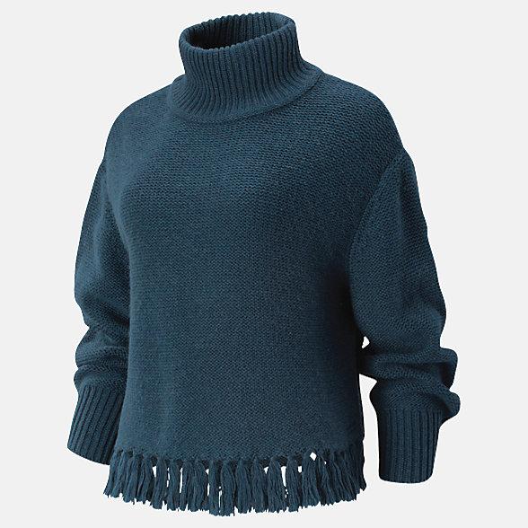 New Balance Balance Fringe Sweater, WT93471SRC