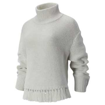 New Balance Balance Fringe Sweater, Sea Salt
