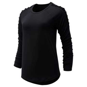New Balance Balance Macrame Long Sleeve, Black