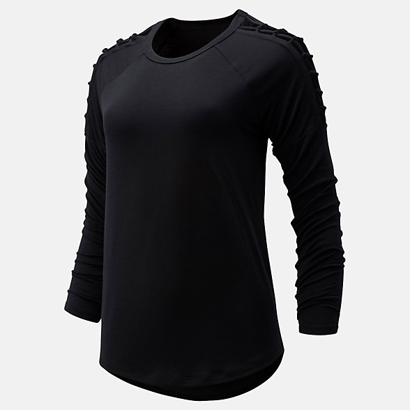 NB Balance Macrame Long Sleeve, WT93472BK