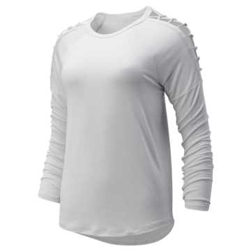 New Balance Balance Macrame Long Sleeve, Sea Salt Heather