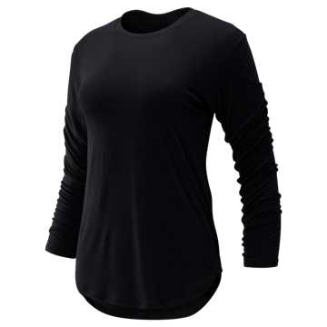 New Balance Evolve Twist Back Long Sleeve, Black
