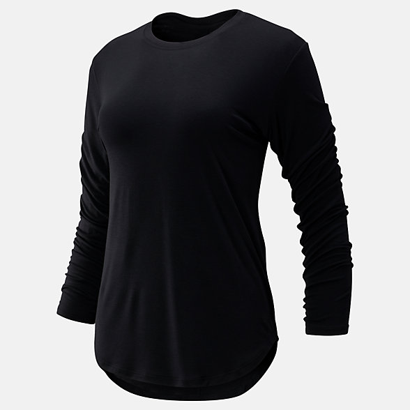 New Balance Evolve Twist Back Long Sleeve, WT93485BK