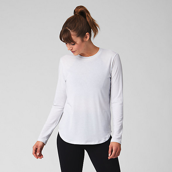 New Balance Evolve Twist Back Long Sleeve, WT93485SAH