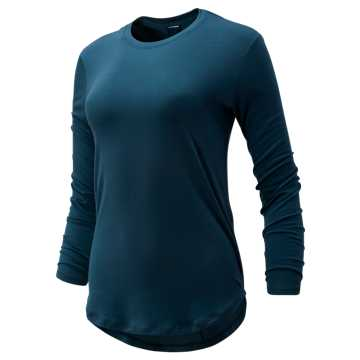 New Balance Evolve Twist Back Long Sleeve, Supercell Heather