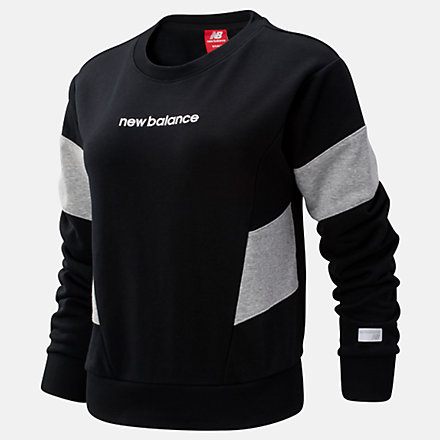 New Balance NB Athletics Classic Fleece Top, WT93502BK image number null