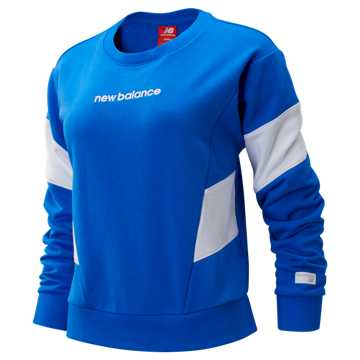 New Balance NB Athletics Classic Fleece Top, Vivid Cobalt with White