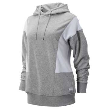 98c8b2115358b New Balance NB Athletics Classic Hoodie, Athletic Grey with White