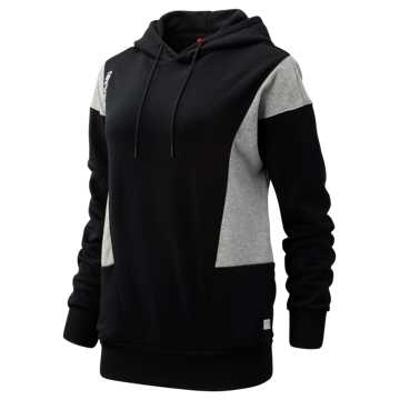 New Balance NB Athletics Classic Hoodie, Black with Athletic Grey