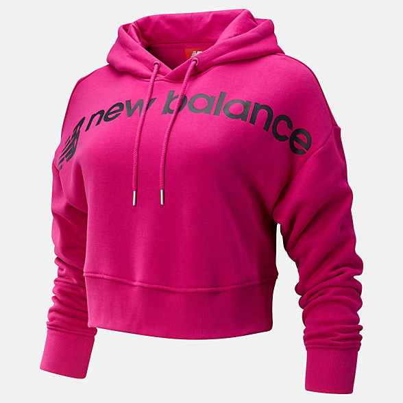 New Balance Sport Style Optiks Cropped Hoodie, WT93510CNV