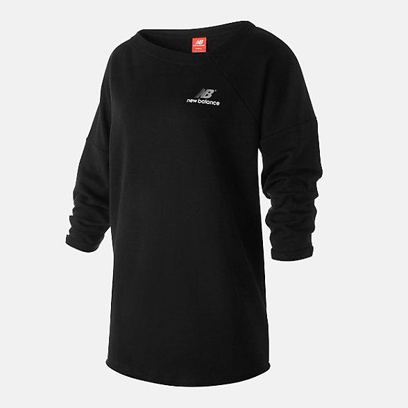 New Balance 女款針織長袖上衣, WT93515BK