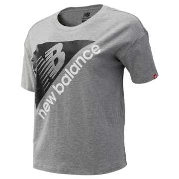 New Balance NB Athletics Archive Boxy Tee, Athletic Grey