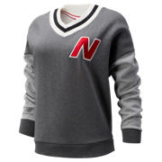 NB NB Athletics Select Stadium V-Neck, Dark Heather Grey
