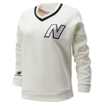 New Balance NB Athletics Select Stadium V-Neck, Sea Salt
