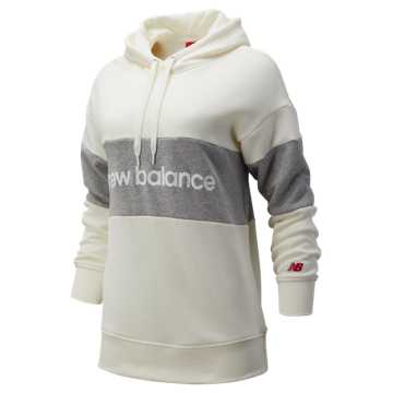 New Balance NB Athletics Stadium Hoodie, Sea Salt with Athletic Grey