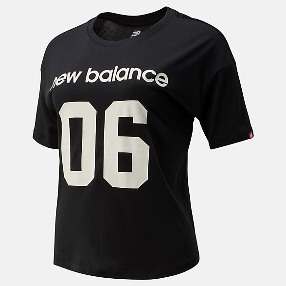 NB Camiseta NB Athletics Stadium Boxy, WT93534BK