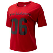NB NB Athletics Stadium Boxy Tee, Team Red