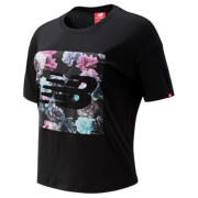 NB Essentials In Bloom Tee, Black