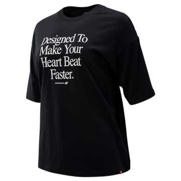 New Balance NB Athletics Archive Heart Tee, Black