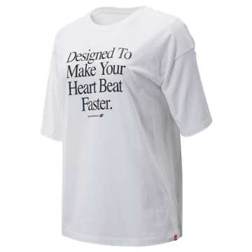 New Balance NB Athletics Archive Heart Tee, White